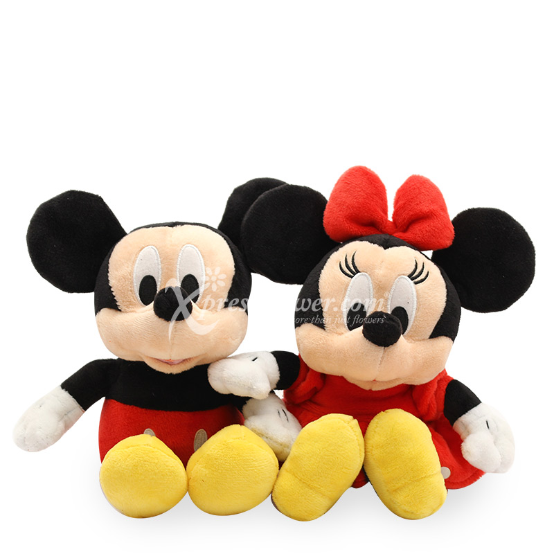 Red Mickey and Minnie Couple