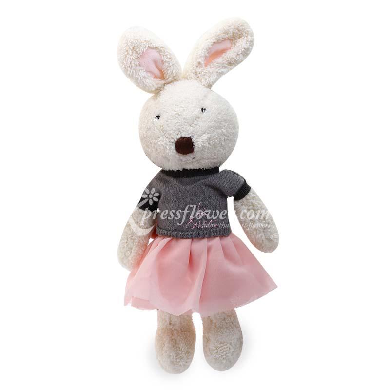 """12"""" Olivia Cream Bunny"""