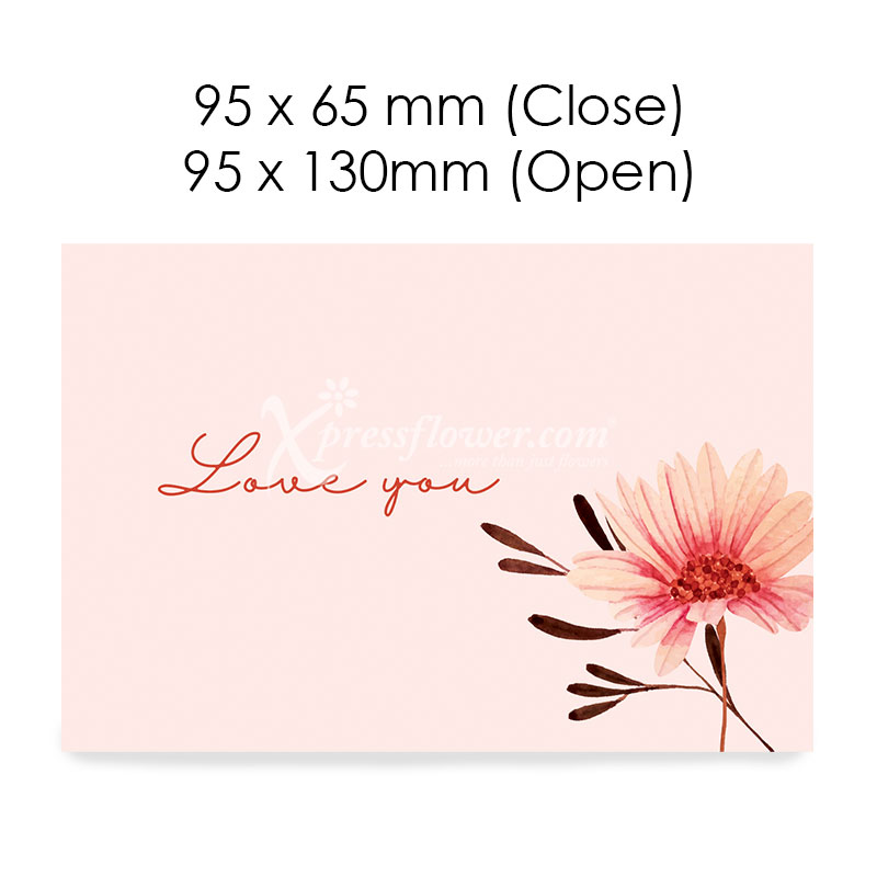 Love you (Pink) (Blank Card)