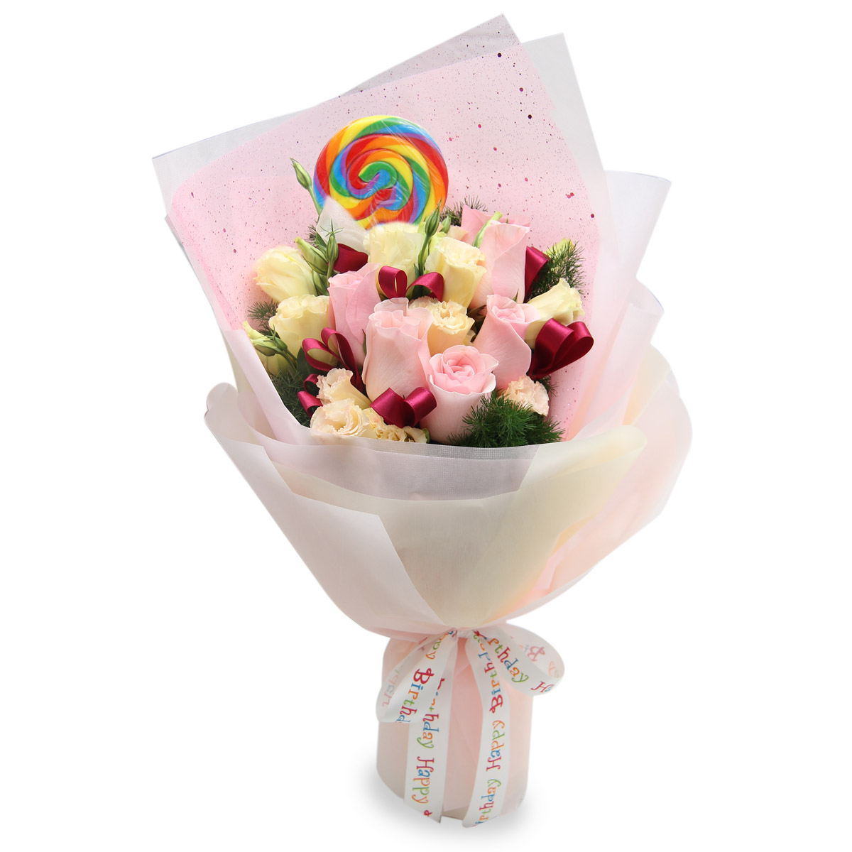 BD1502 MOST SPECIAL DAY pink roses hand bouquet