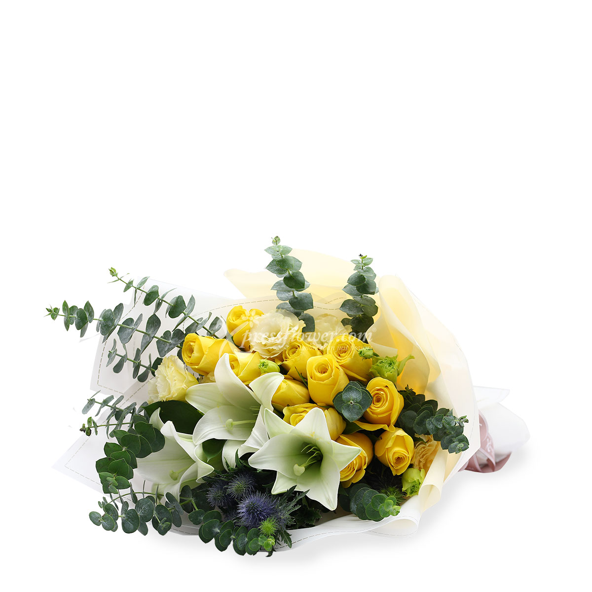 BQ1801 Refreshing Charms Yellow Roses