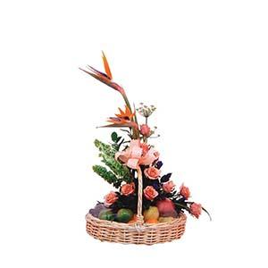 FRUIT AND FLOWER BASKET (IND)