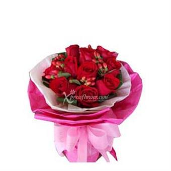 12-STALK RED ROSE BOUQUET (MY