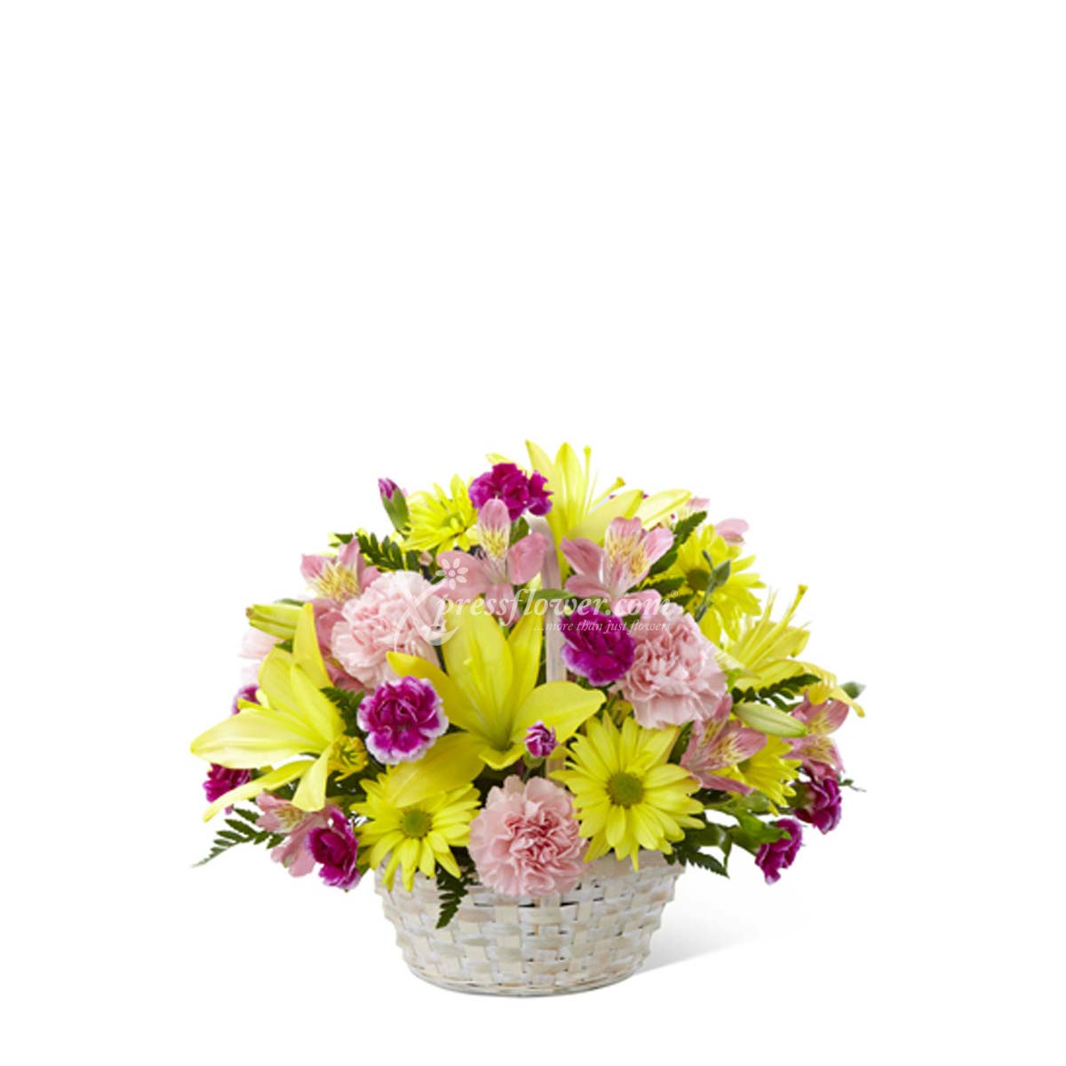 ARRANGEMENT OF FLOWERS IN BASKET (TW)