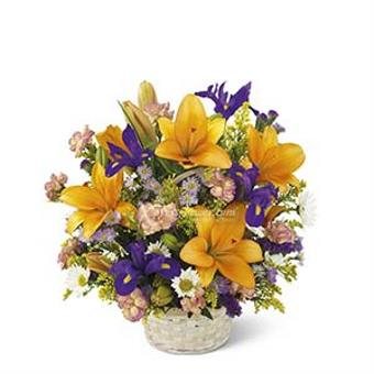 ARRANGEMENT OF BRIGHT AND COLORFUL FLOWERS (TW)