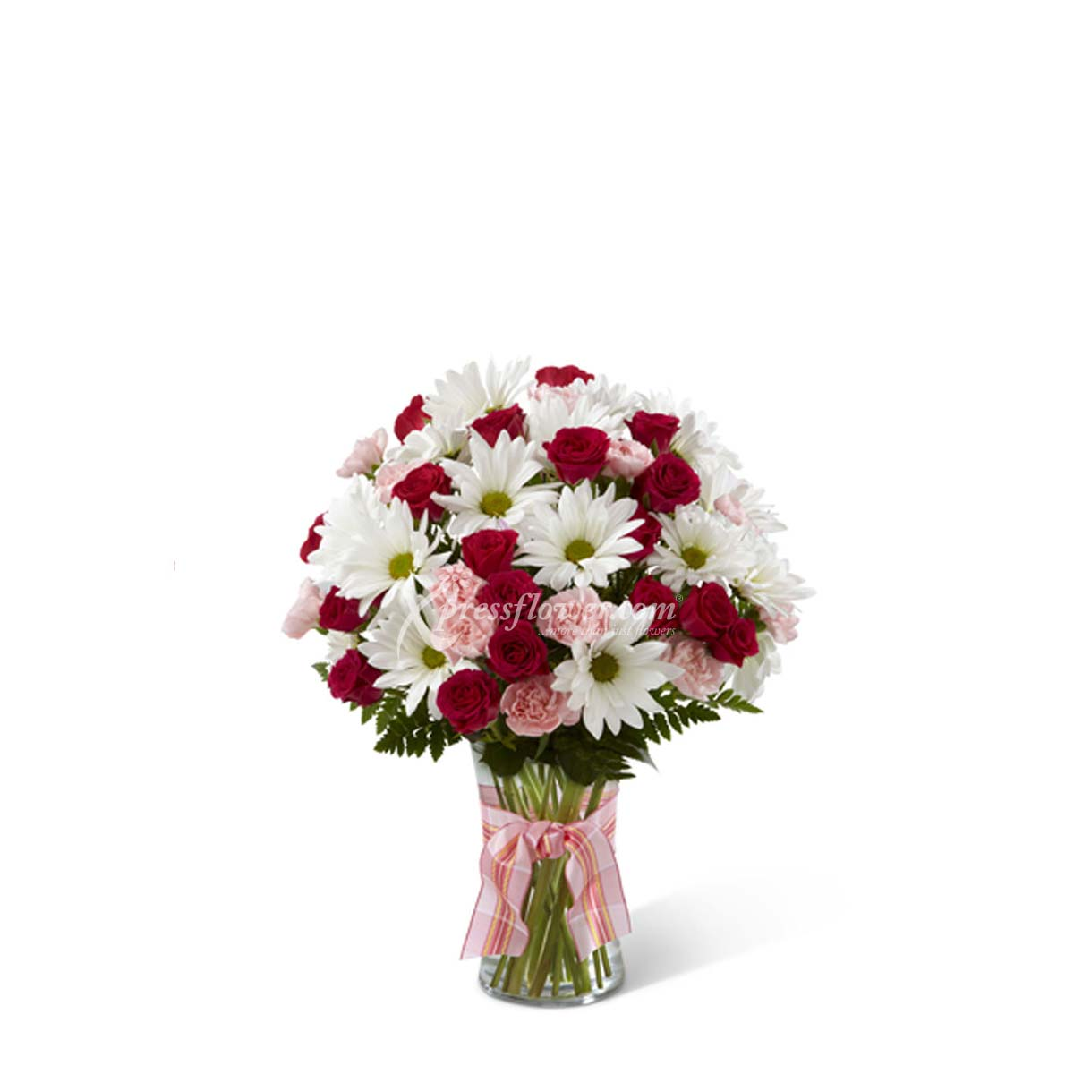 ARRANGEMENT OF ROSES AND GERBERAS/ DAISIES (TW)