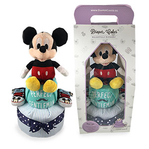 2-Tier Mickey Diaper Cake