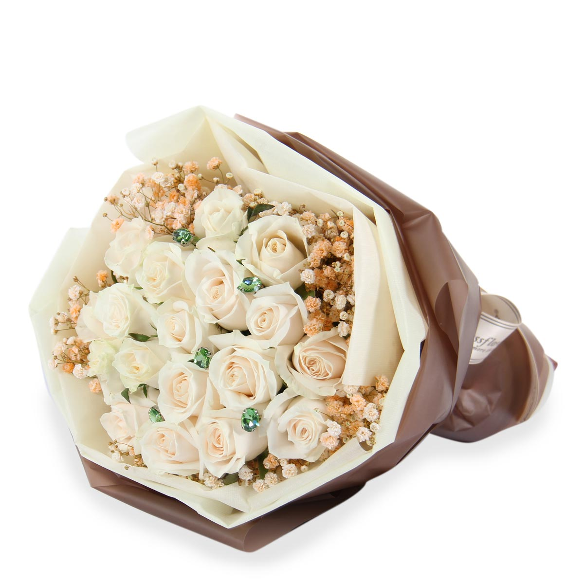 PDT1601 Just Divine Cream roses bouquet