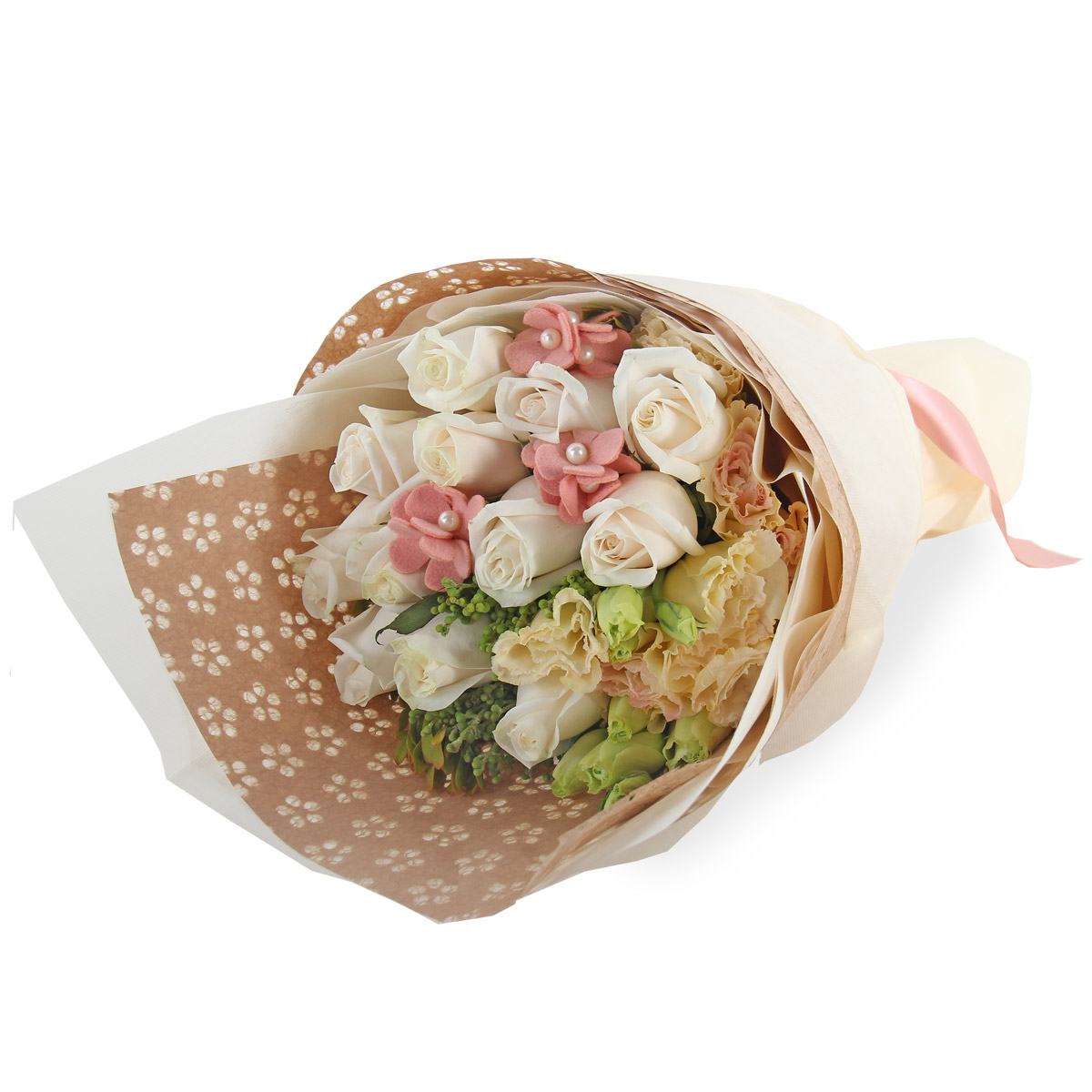 PL1601A Cream rose bouquet