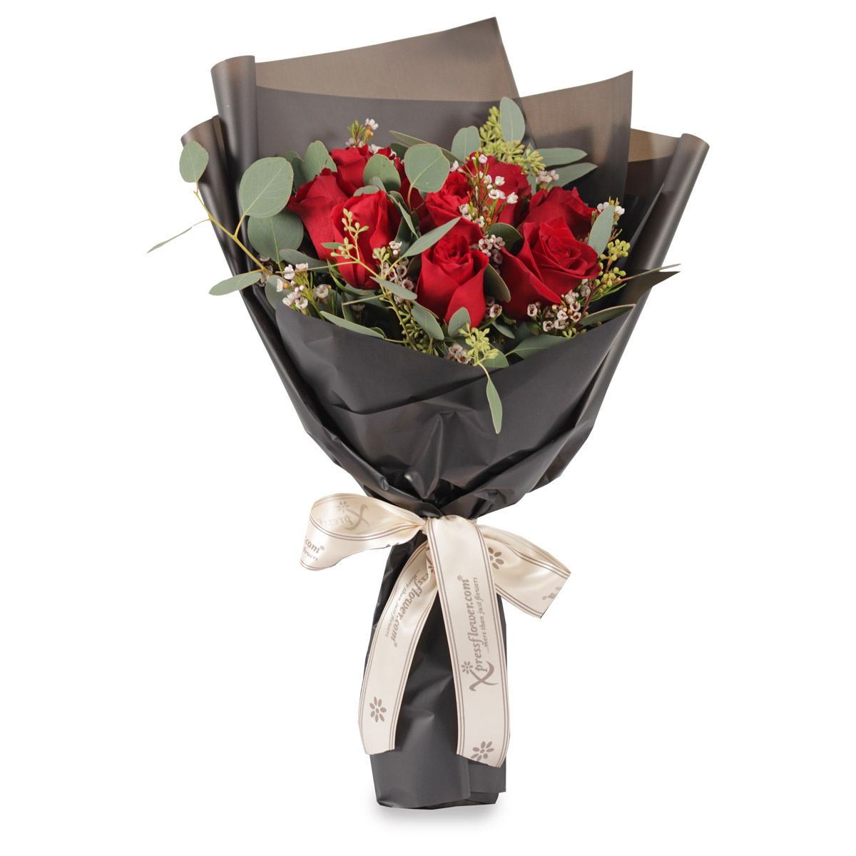 VD1704 12 stalks red roses bouquet