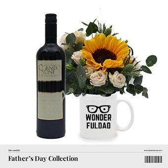 Wine in A Million Dad (1 sunflower with Cornerstone Cabernet Sauvignon)