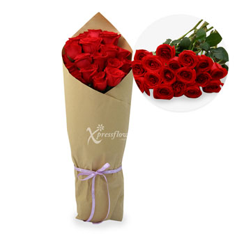 18 Loose Stalks Roses
