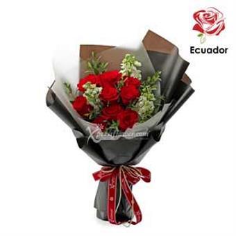 Black Pearl - 12 stalks Premium Ecuador Red Rose