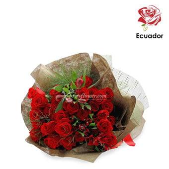 Golden Tiara (36 stalks Premium Ecuador Red Roses)