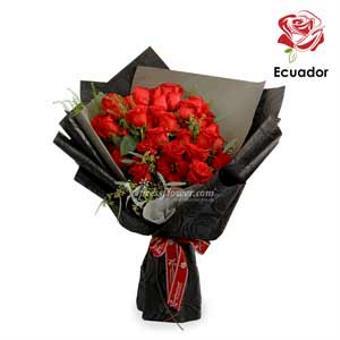 Black Opal - 50 stalks Premium Ecuador Red Roses