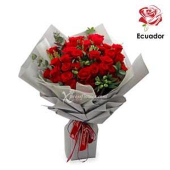 Glittering Moonstone - 50 stalks Premium Ecuador Red Roses