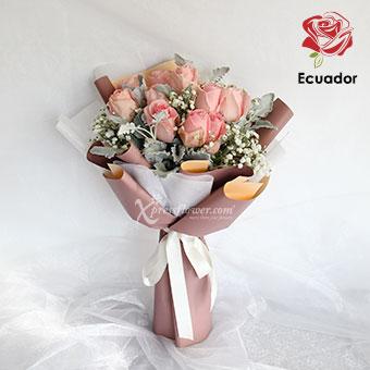 Pink Goddess (12 stalks Premium Ecuador Light Pink Roses)