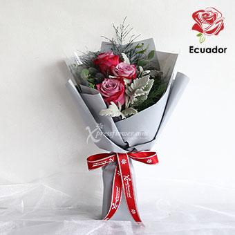 Purple Pleasures (3 stalks Premium Ecuador Purple Roses)