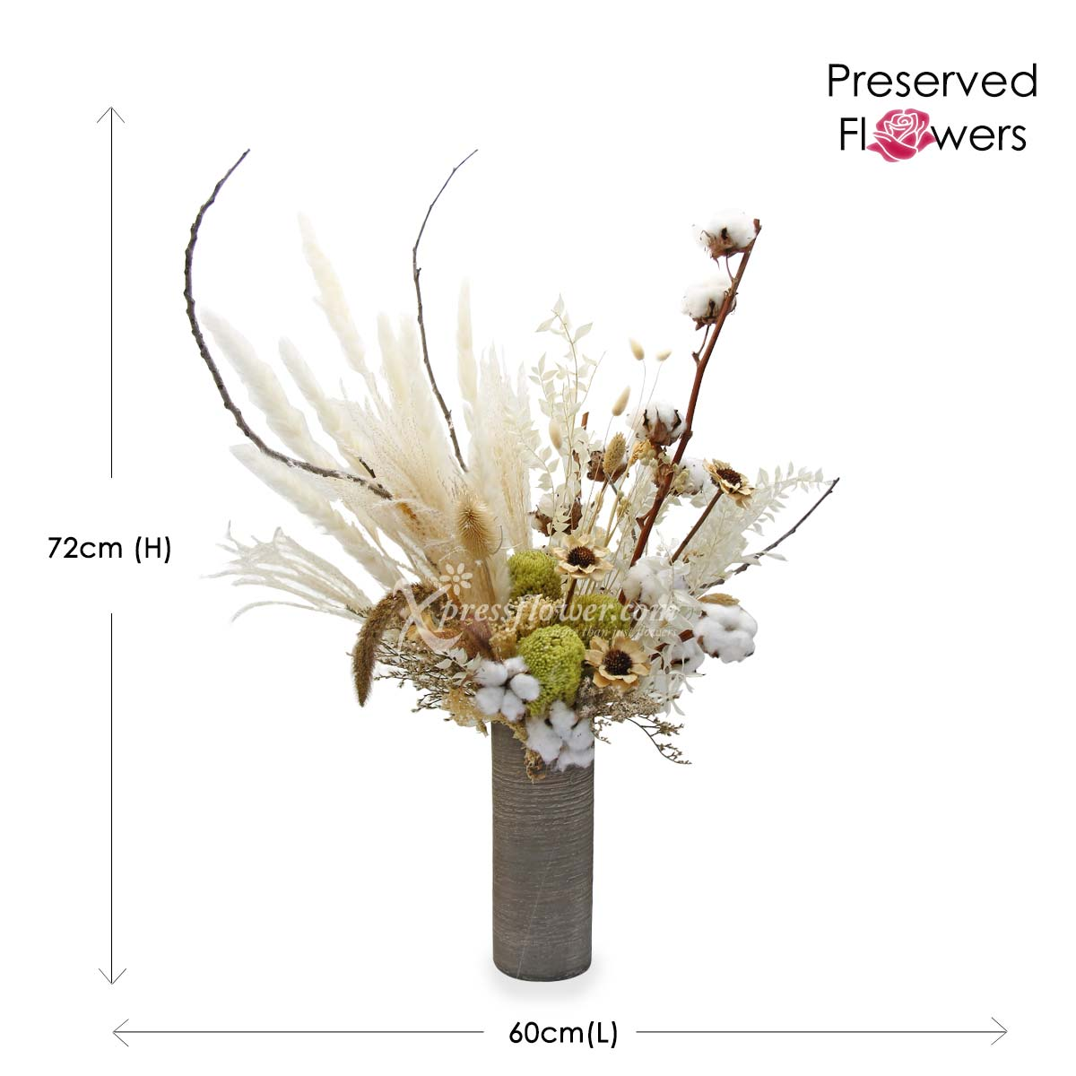 PR2107_Magnifique (Mixed Dried & Preserved Flowers)_B