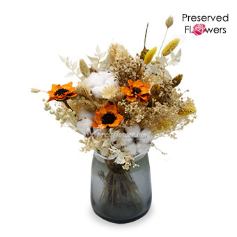 Amber Glow (Mixed Dried & Preserved Flowers)