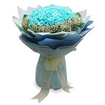 Blue Lagoon - 99 stalks Blue Roses