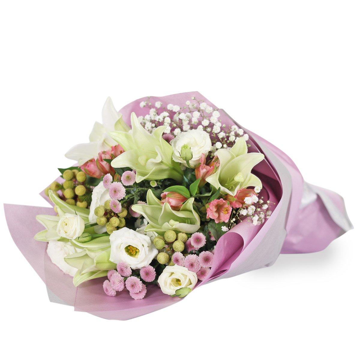 BQ1122A white lilies bouquet