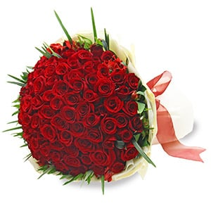 Luxuriant Affection - 99 stalks Red Roses