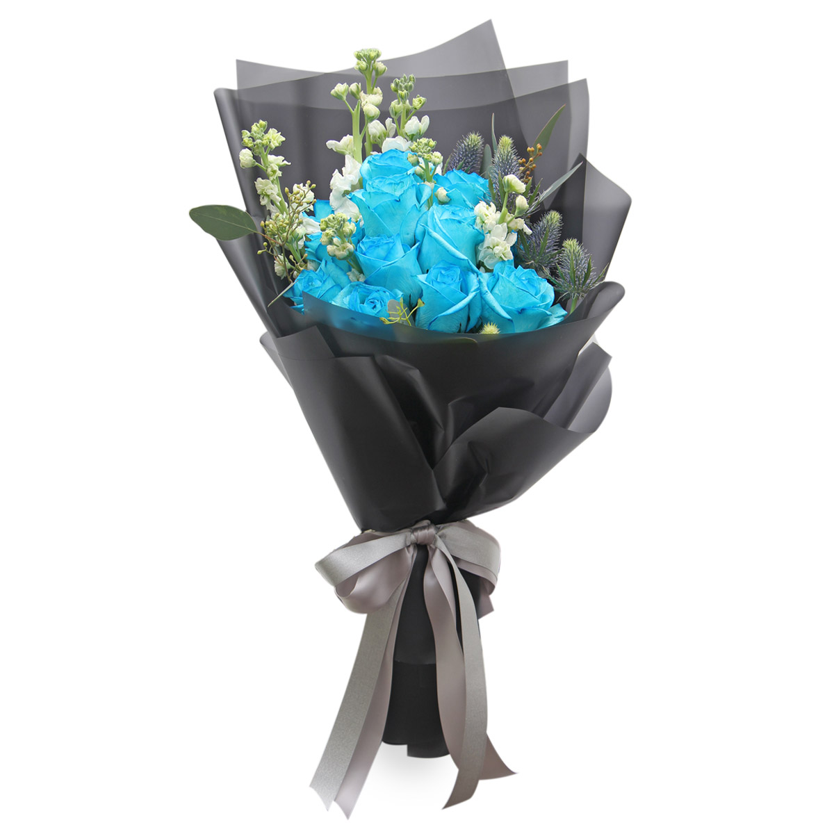 BQ1605 Blue Roses Bouquet