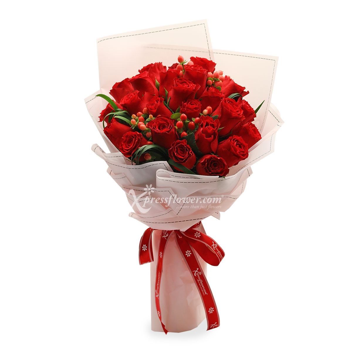BQ1611 red roses bouquet