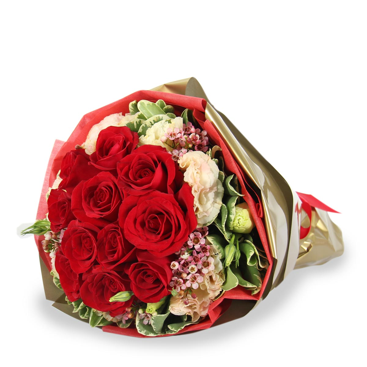 BQ1635 red roses bouquet