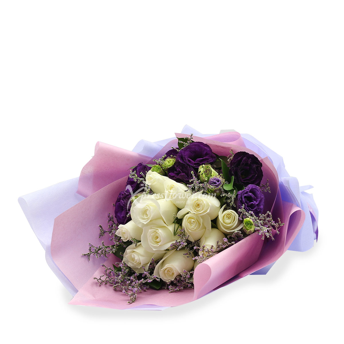 BQ1708 Enchanted By You white roses bq