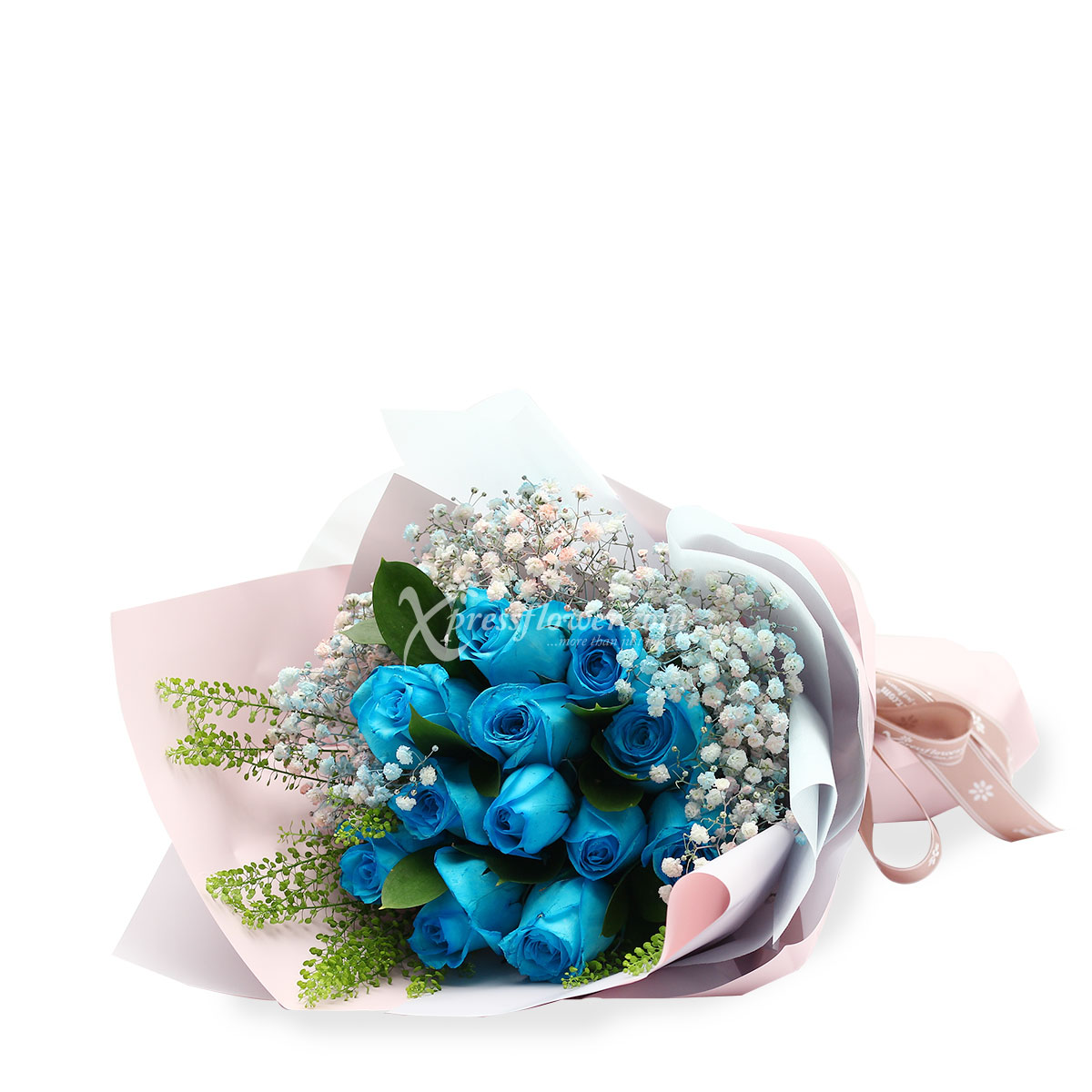 BQ1727 breathtaking blooms blue roses