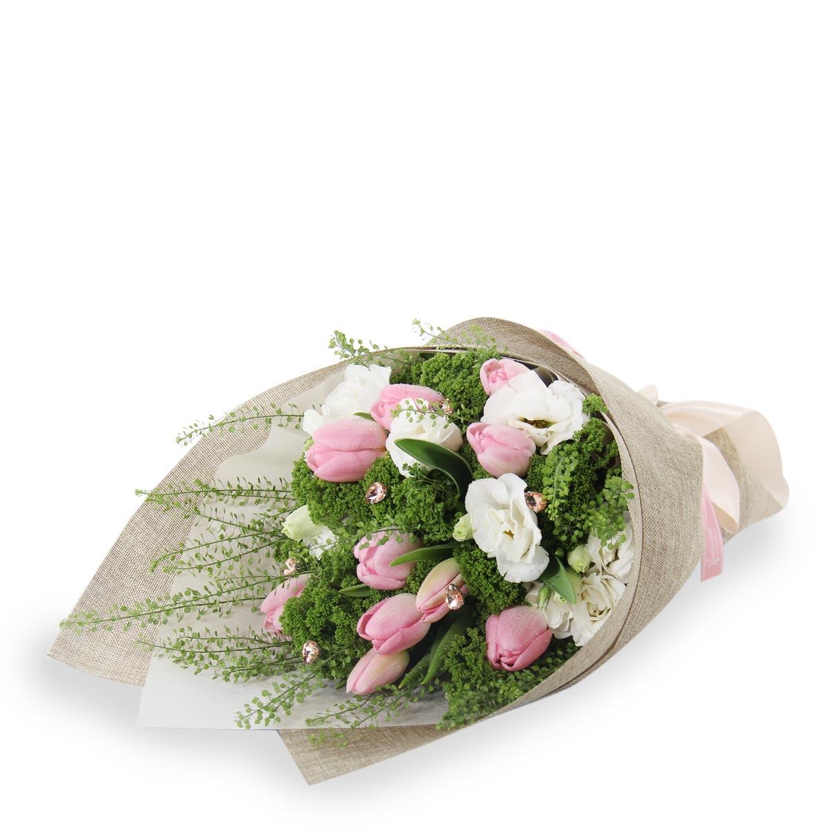 BQ1732 blushing blossom pink tulips