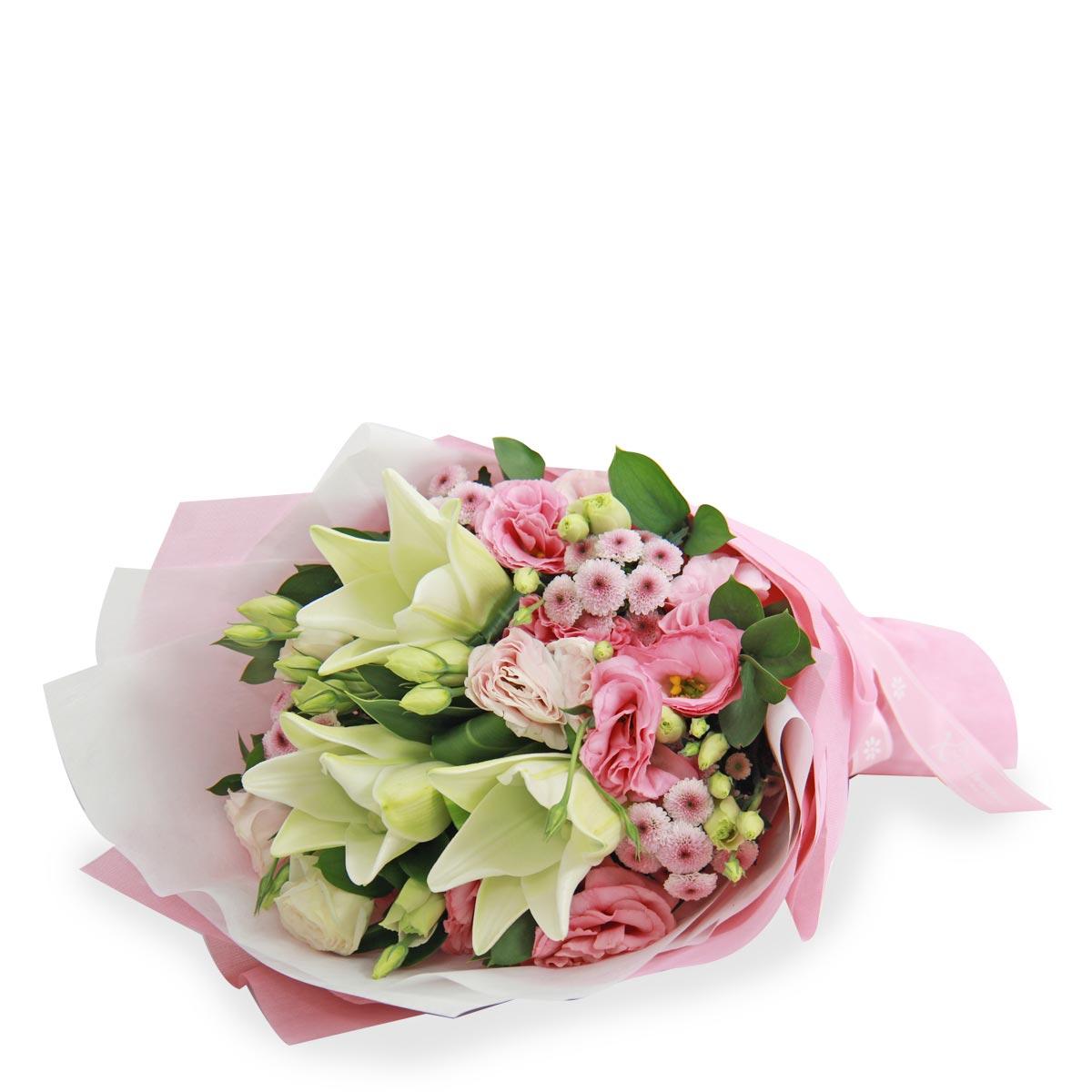 BQ1741 dreamy delight white lilies