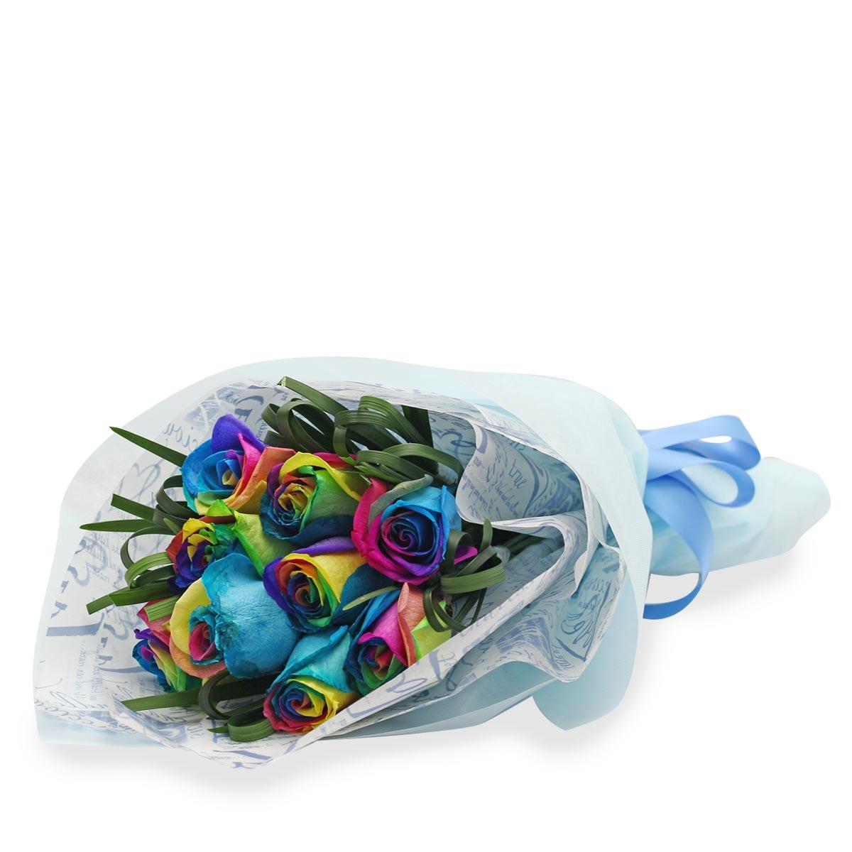 BQ1752 ravishing rainbow roses