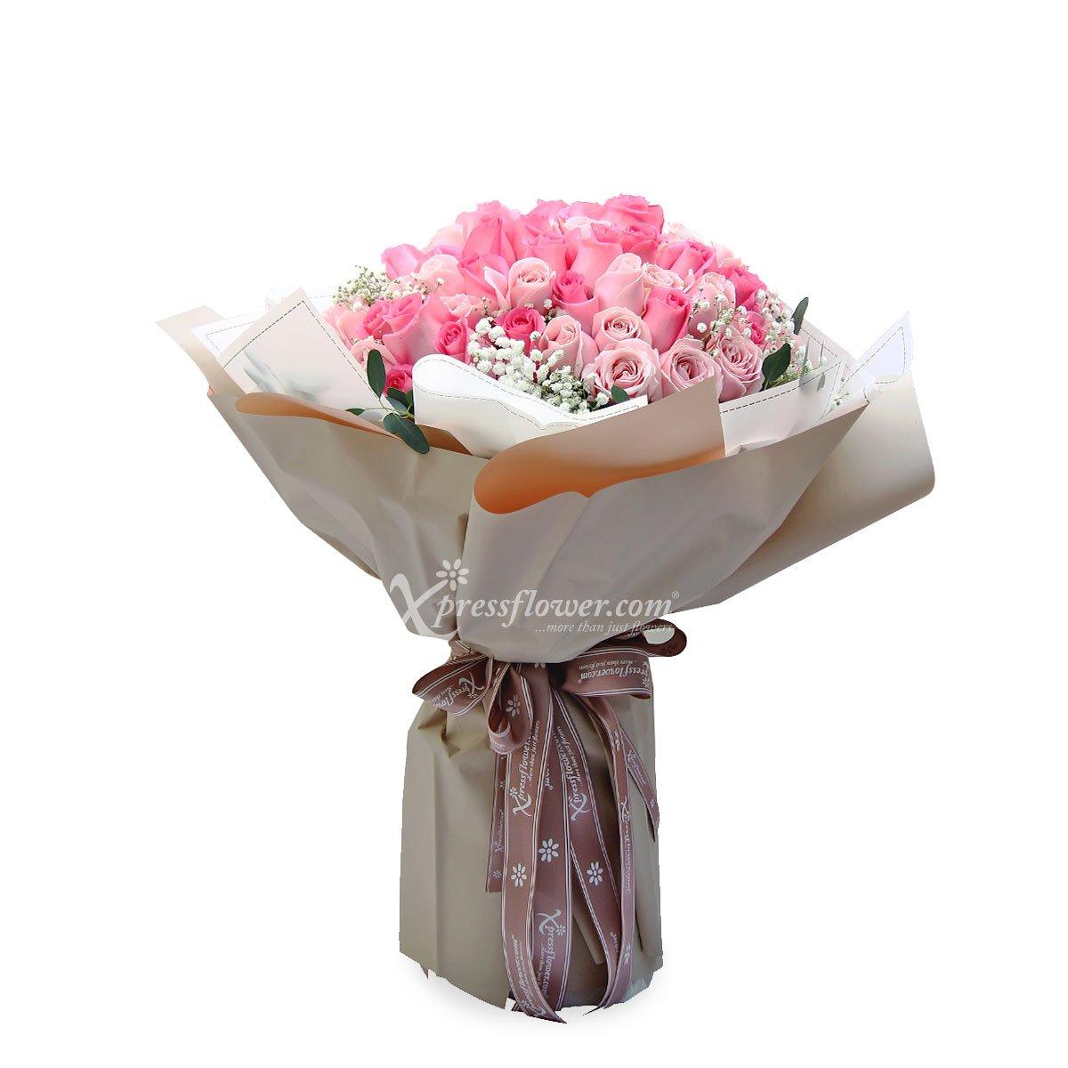 Million Reasons (99 stalks Mix Pink Roses)