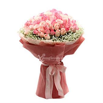 Million Reasons - 99 stalks Mix Pink Roses