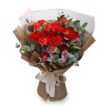 Juno (6 red carnations)