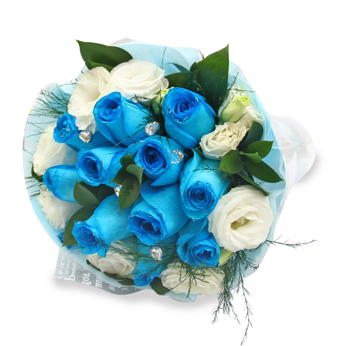 EBQ1510 Blue rose bouquet