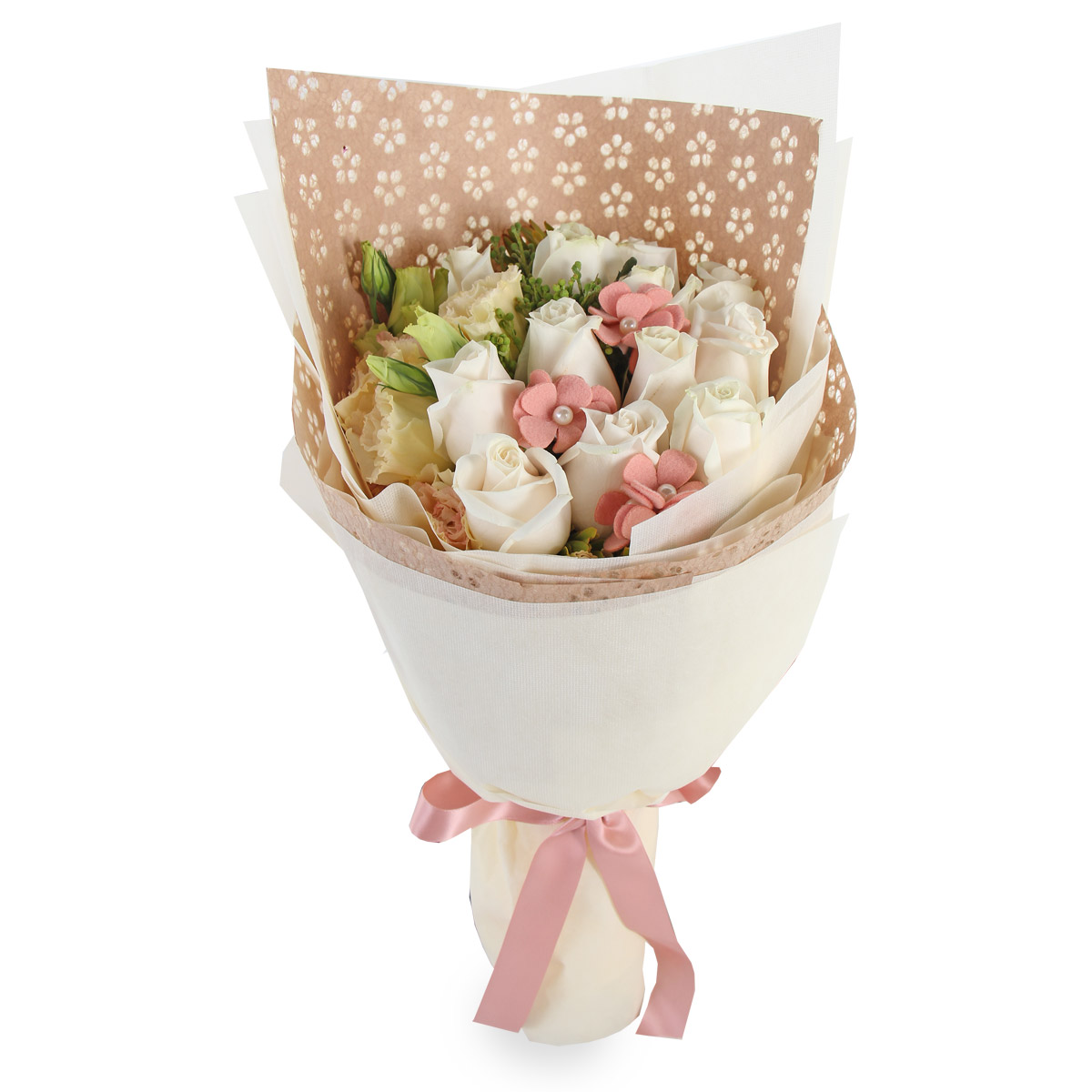 PL1601 Cream Rose Bouquet