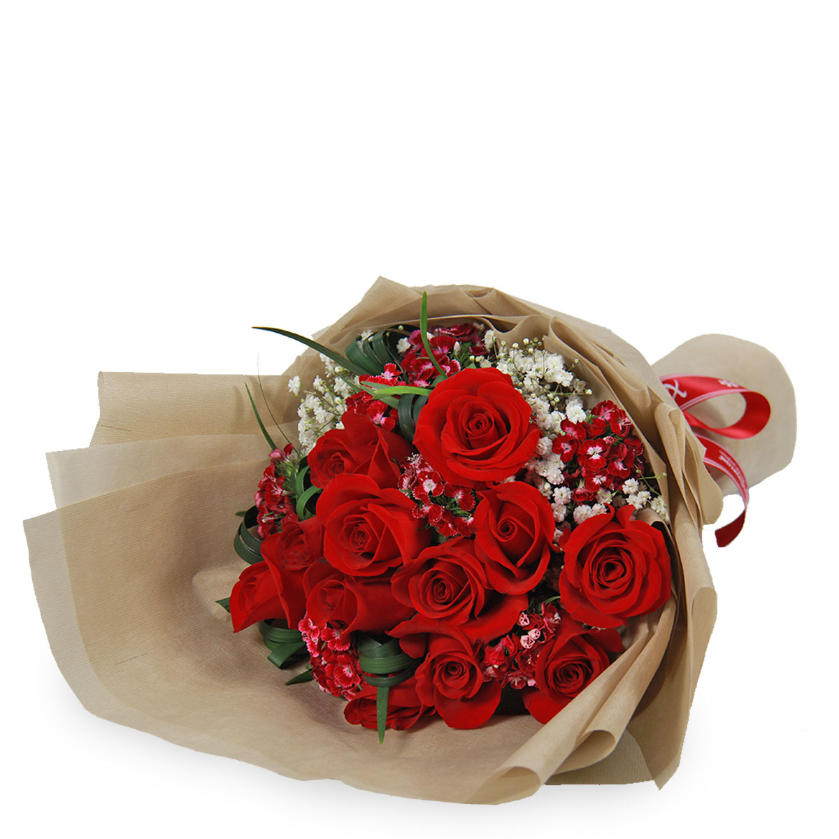bq1342 MESMERIZE ROMANTICALLY Deluxe Red roses bq