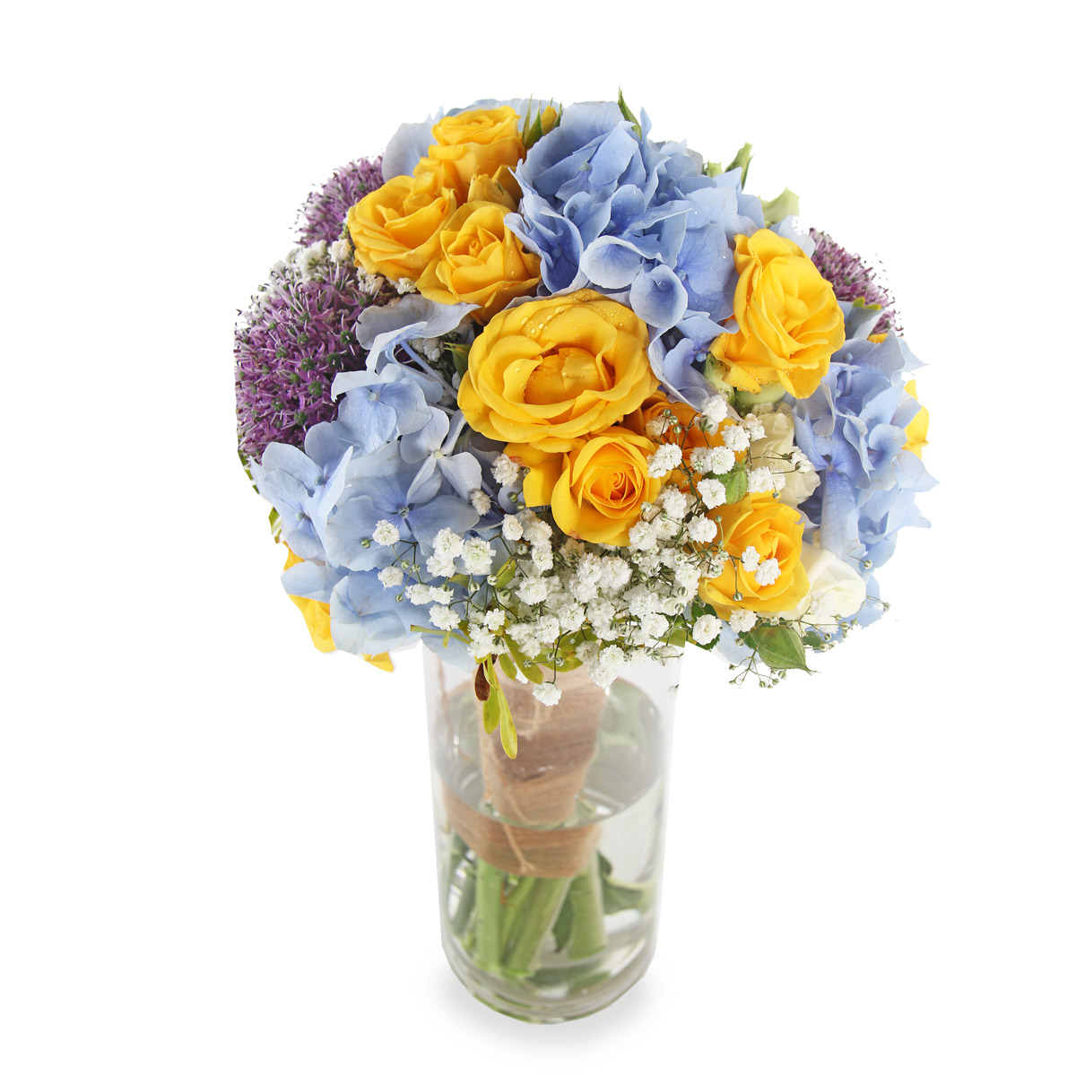 AR1604A Hydrangeas and Rose arrangement