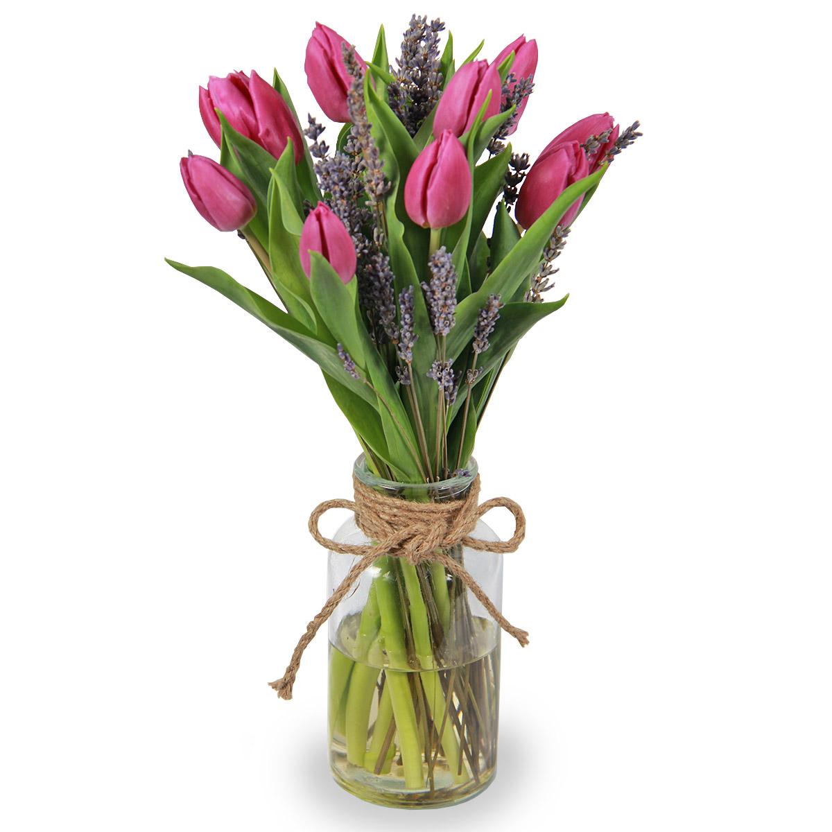 AR1717 ravishing splash purple tulips