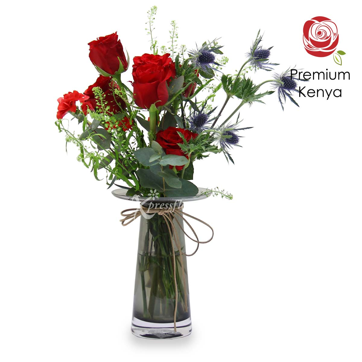 Standing Tall (6 red roses)