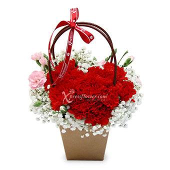 Box Full of Love (11 red carnations)