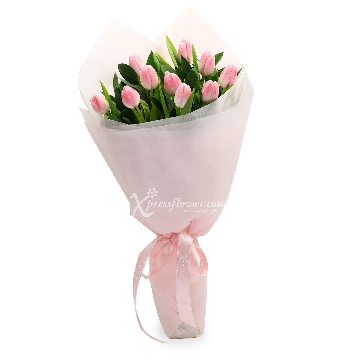 Blushing Pink (10 stalk Tulips)