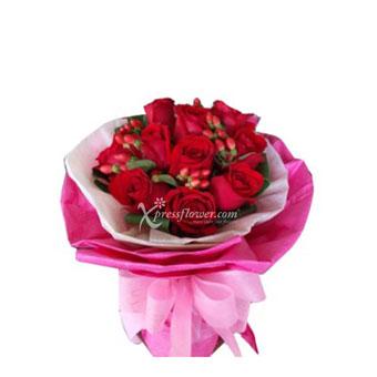 12-STALK RED ROSE BOUQUET (MY