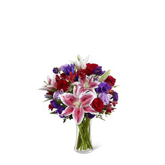 ARRANGEMENT OF ROSES AND LILIES (TW)