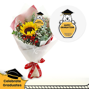 Winsome Success (1 sunflower Disney bouquet)