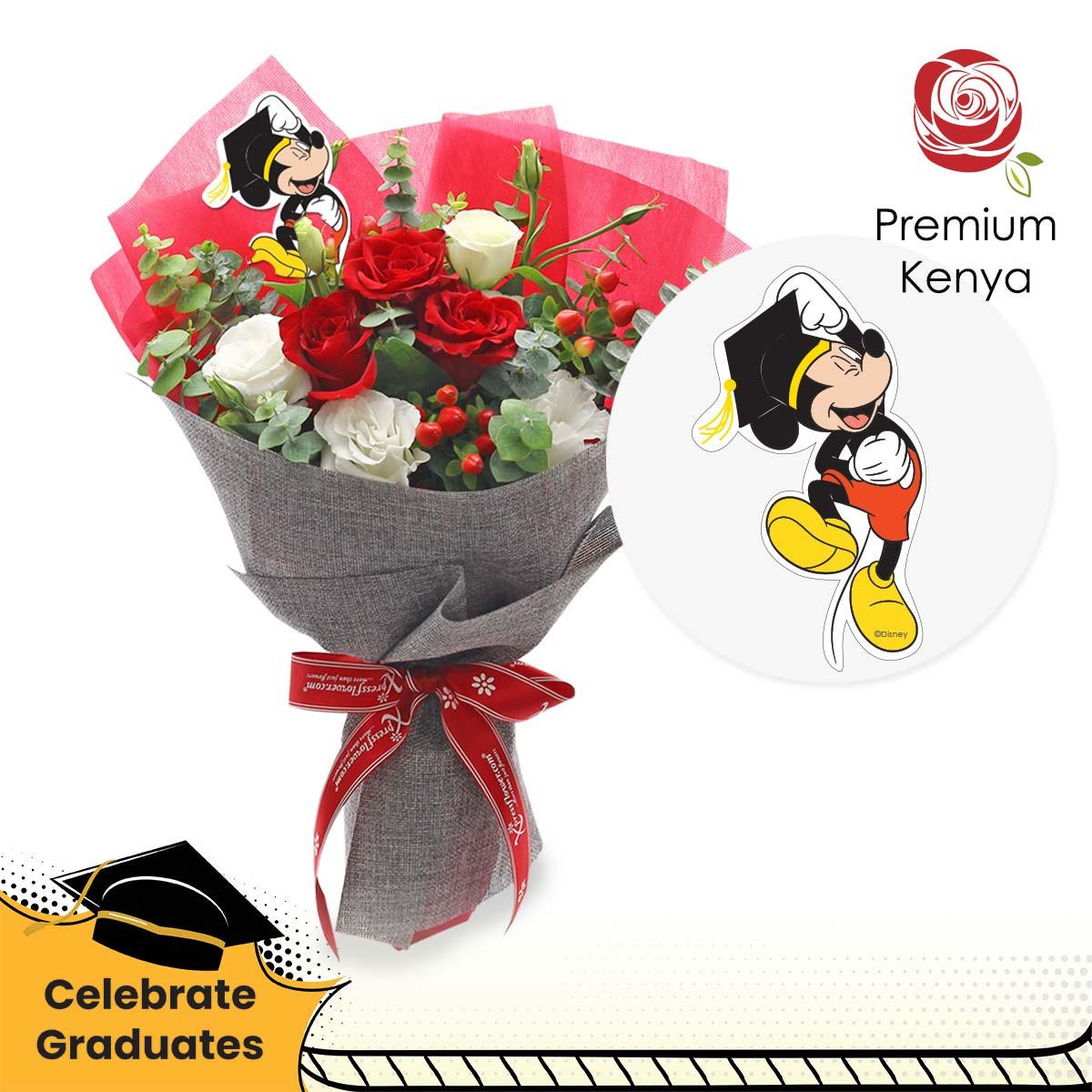 No Limits (3 red roses Disney bouquet)